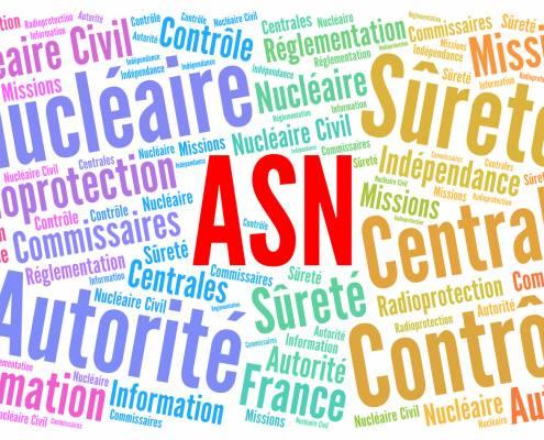 ASN, autorité sûreté nucléaire en France nuage de mots